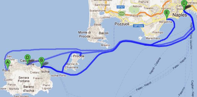Napoli ischia orari aliscafi - Partenza da calata porta di massa ...
