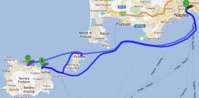Ischia napoli orari traghetti - Partenza da calata porta di massa ...