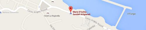 Mario d'Ischia handmade sandals: Map
