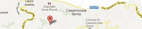 Mappa La Pergola Hotel Terme