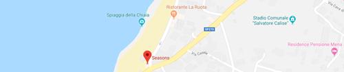 Seasons beach restaurant: Mappa