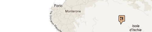 Ristorante La Grotta monte Epomeo: Mappa