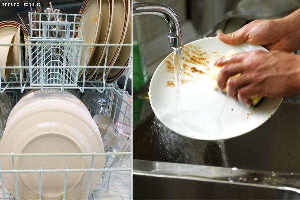 Cerco lavoro come lavapiatti