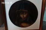 Quadro antico su foglia 40x40 rappresentante immagine sa