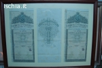 Vendo un quadro con 3 buoni Regno Italia