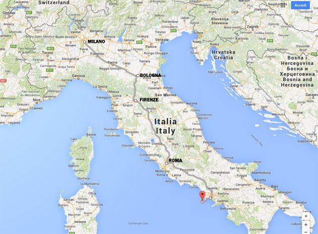 Milano Cartina Italia.Ischia It Treno Aliscafo